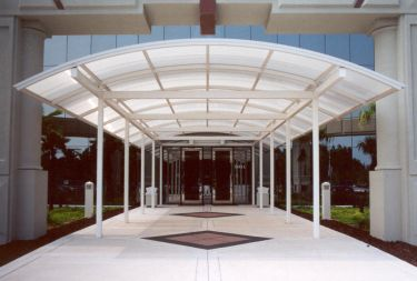 Architectural Canopies are used for a variety of solutions including shielding from the elements like rain snow and sun as well as aesthetics and building ... & Architectural Canopies | Porte Cocheres |Custom Extrusion ...